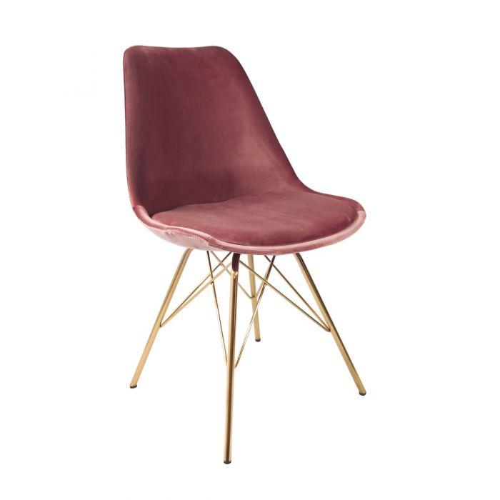 Kick Kuipstoel Velvet Roze Goud Frame