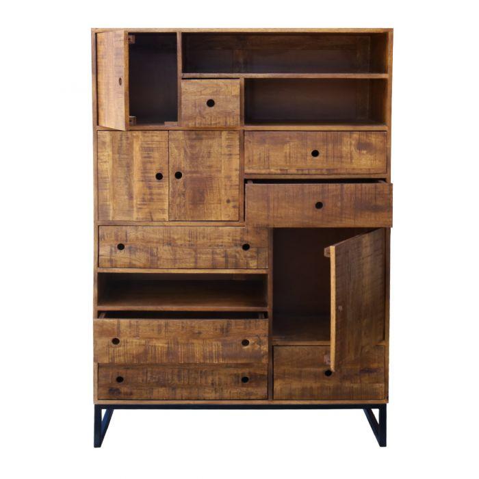 Ongekend Kick industrial - ladekast Mango, industrieel meubel, mango hout WW-78