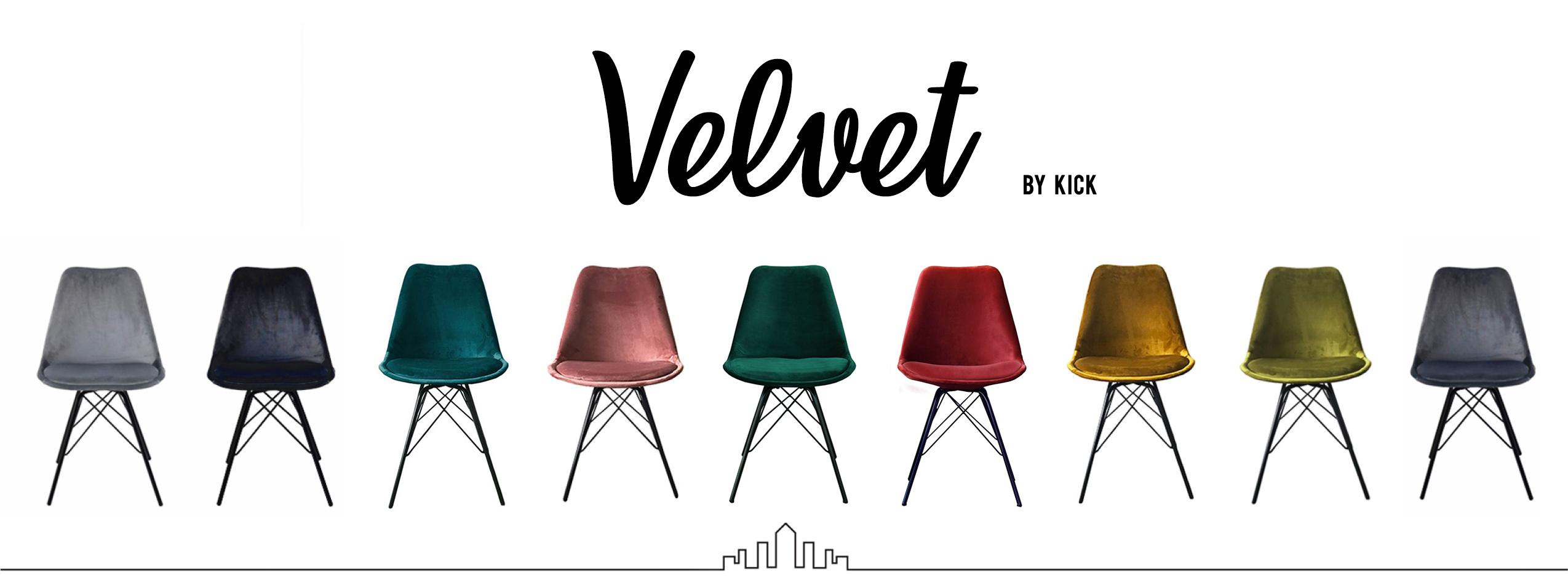 Kick - Velvet Kuipstoelen - 11 kleuren